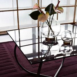 GLOBE vase w. stand  Black     Mini