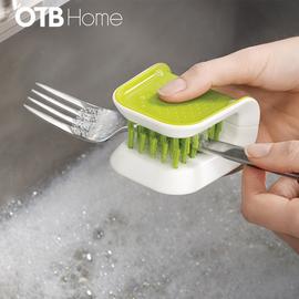 U型刀叉清洗刷绿色