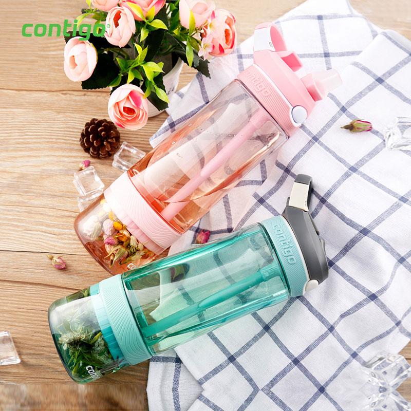 果茶滤网吸管杯 塑料水杯  HBC-ASH016   樱花粉果茶杯